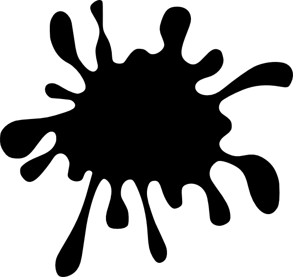 600x568 Black Splash Clip Art