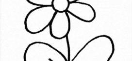 272x125 Clip Art Flower Black And White Clipart Panda