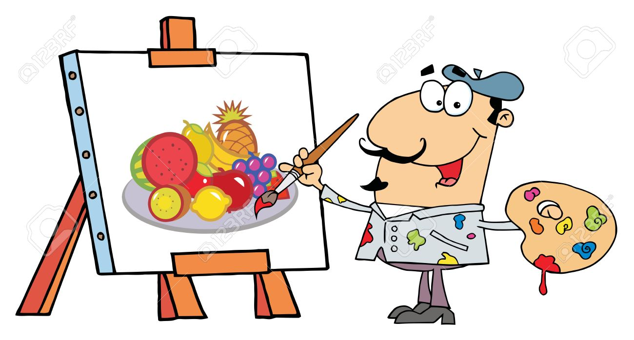 1300x698 Clipart Artist Painting
