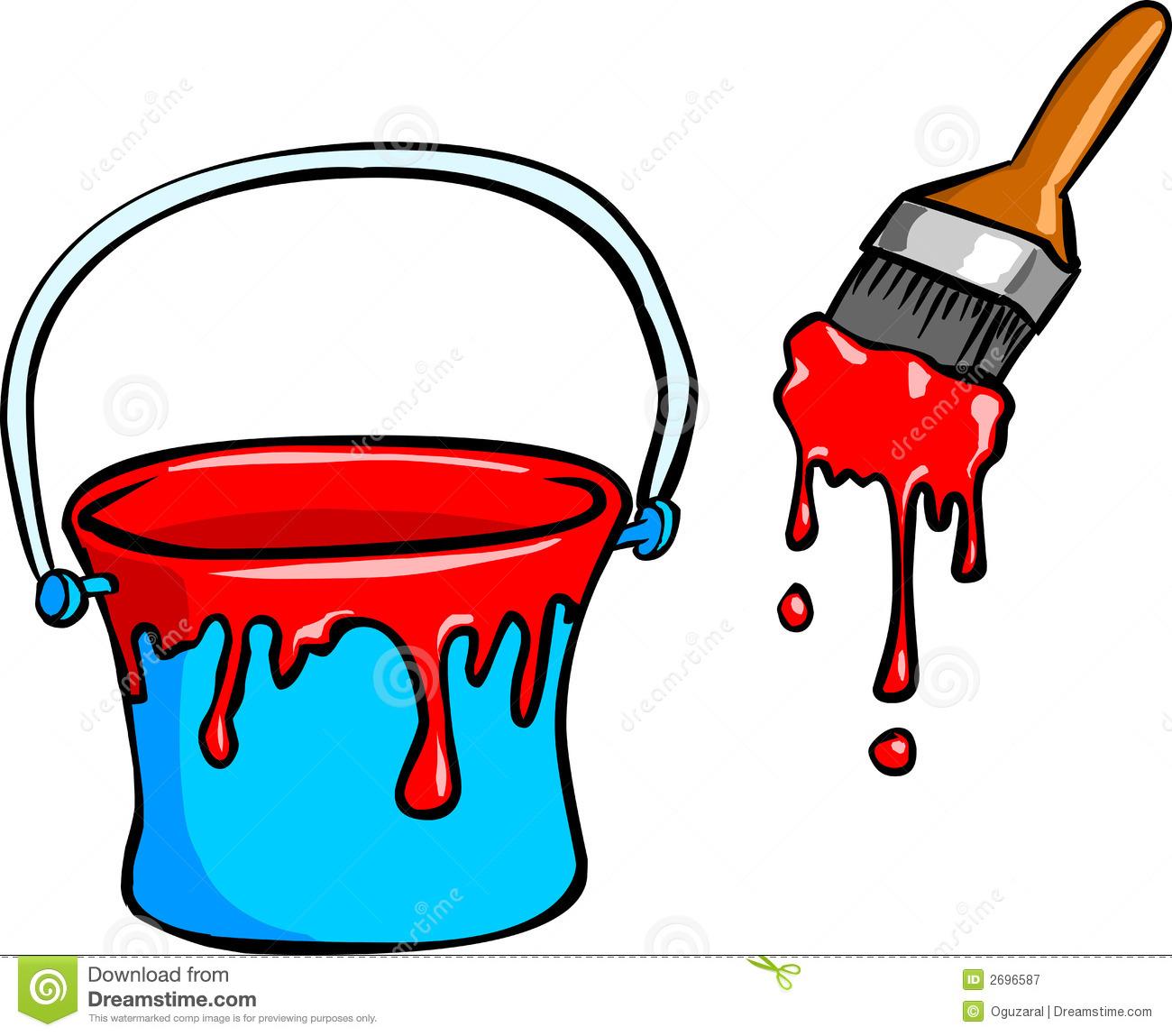 1300x1149 Brush Clipart Paint Bucket