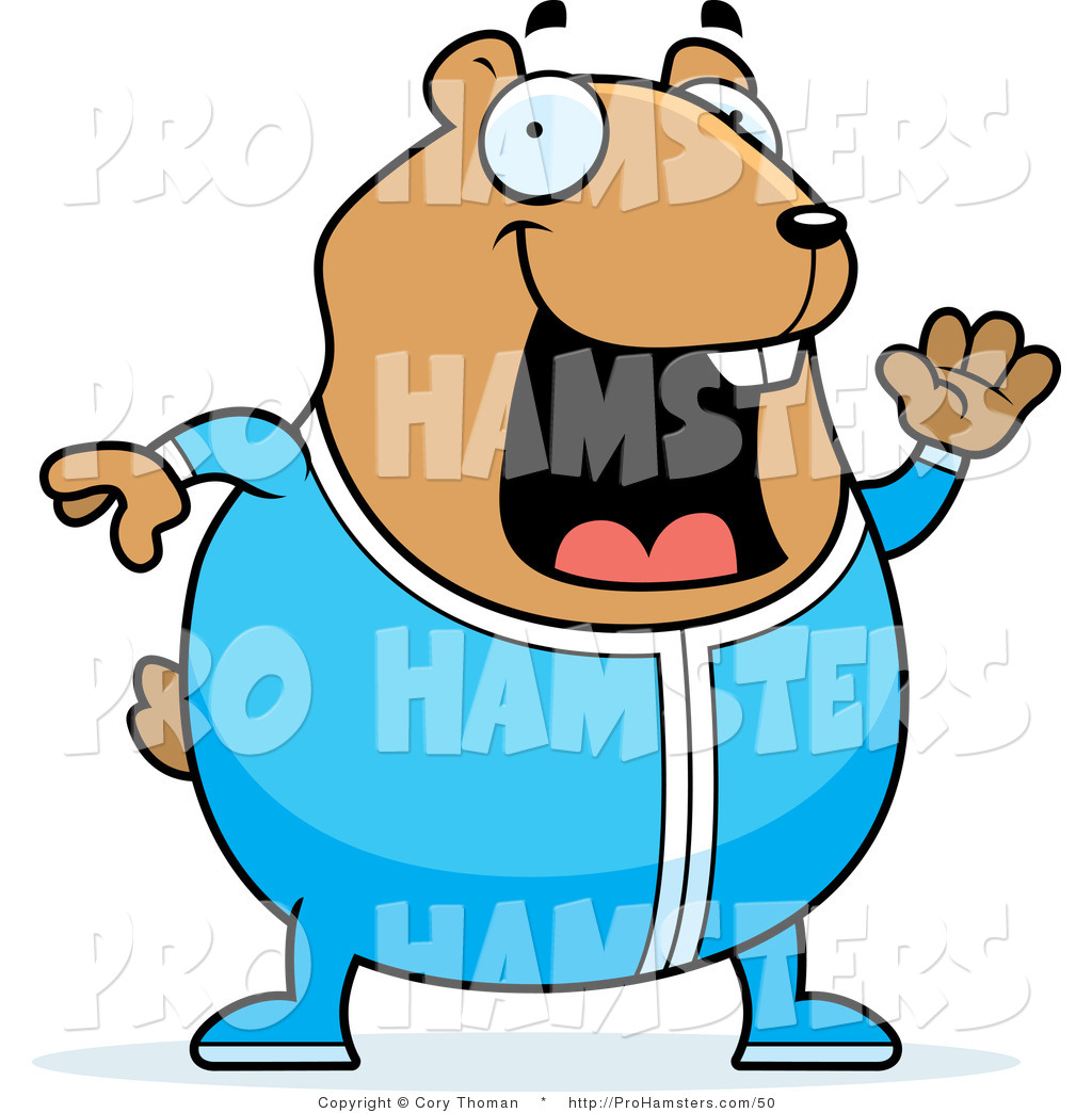 1024x1044 Illustration Of A Yawning Cartoon Hamster Waving Goodnight