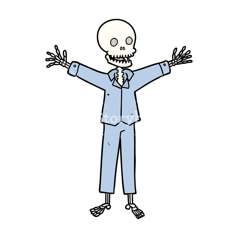 1000x1000 Cartoon Skeleton Wearing Pajamas Royalty Free Stock Image