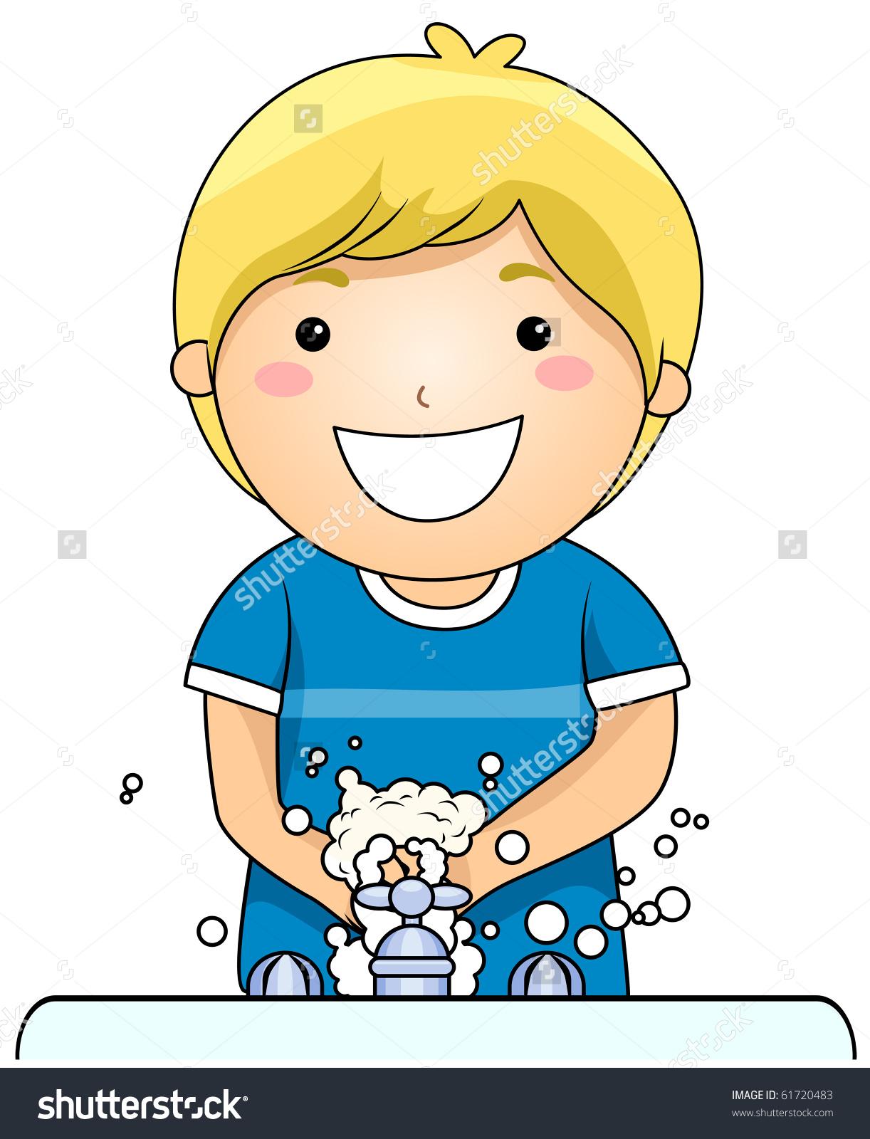 1222x1600 Girl Washing Hands Clipart