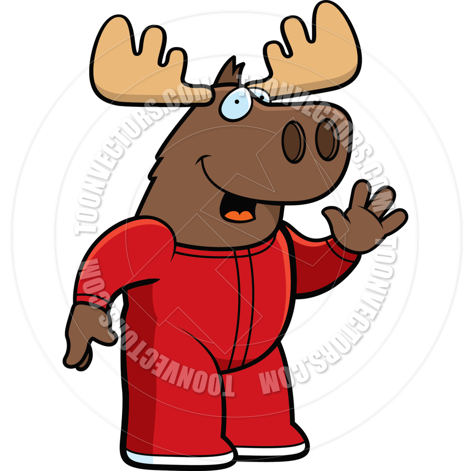 940x940 Cartoon Moose Pajamas By Cory Thoman Toon Vectors Eps