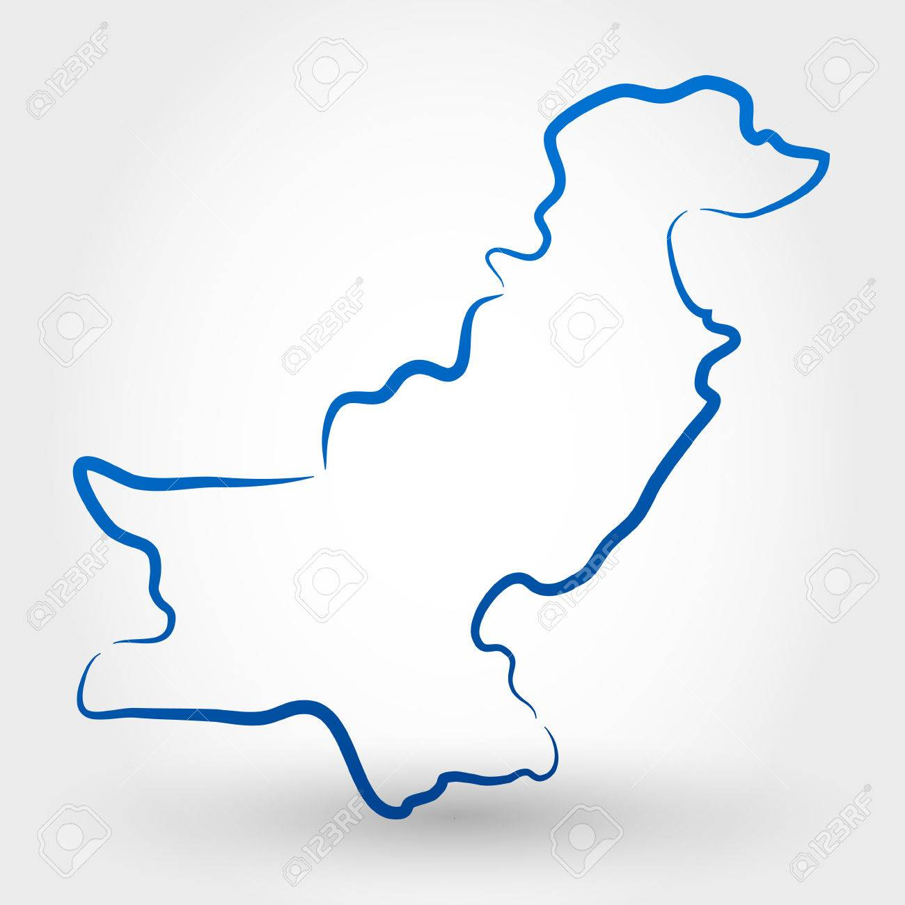 Pakistan Map Outline
