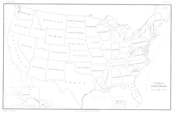 600x390 usa state outline wnames laminated map 40x26 u s geological
