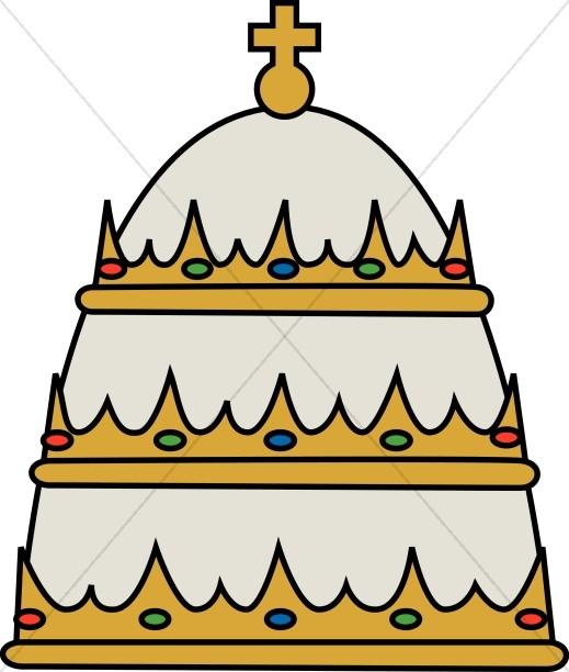 519x612 Hat Clipart Papal
