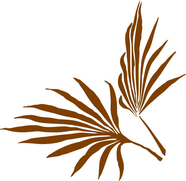 600x584 Palm Leaf Clip Art