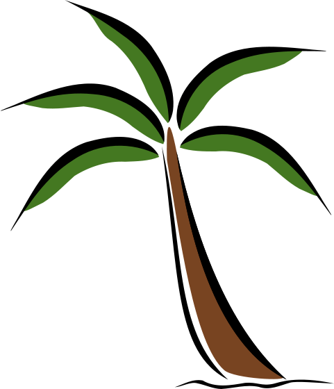 481x560 Palm Leaf Clipart