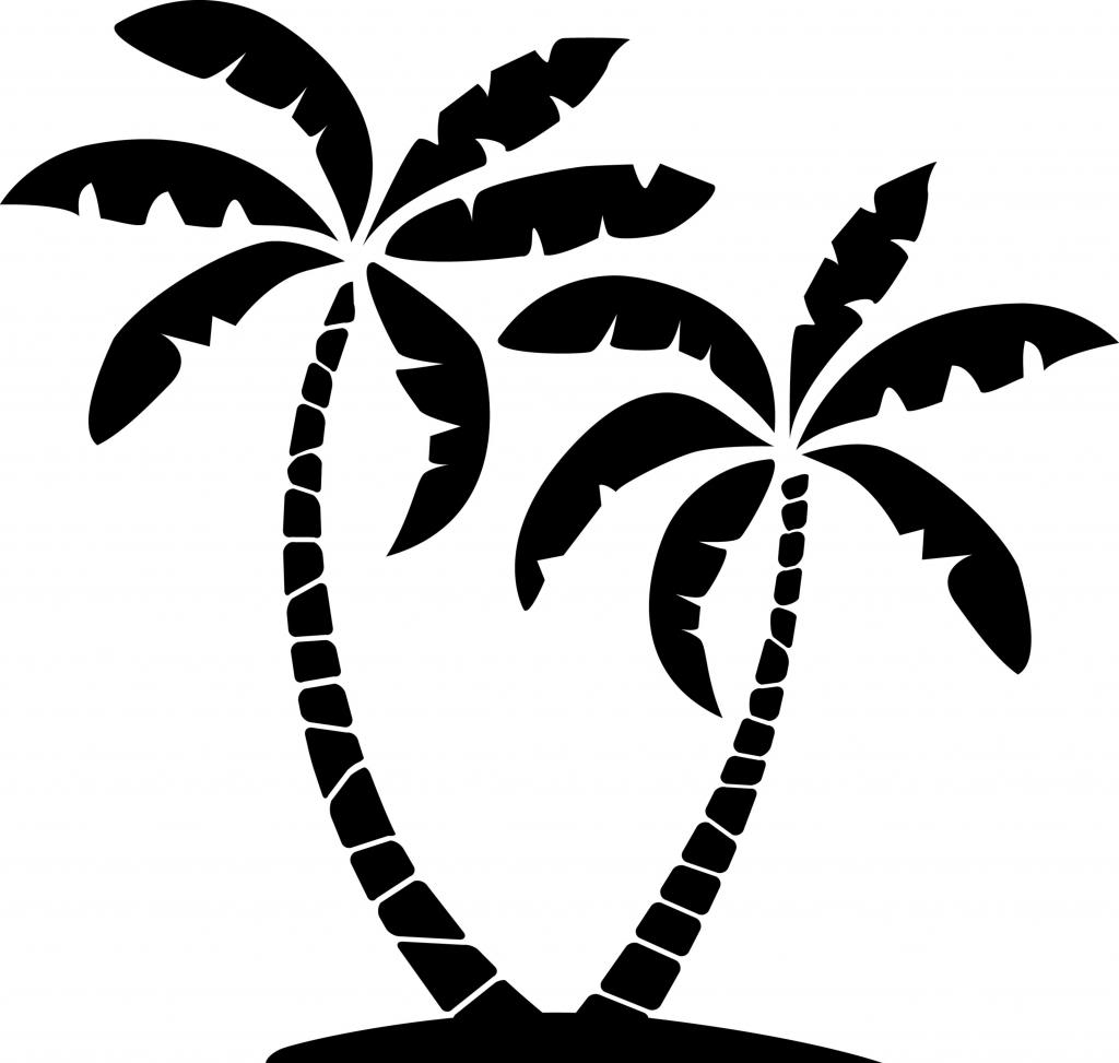 1024x973 Vector clipart palm tree
