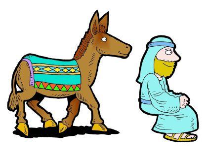 423x319 Donkey clipart bible