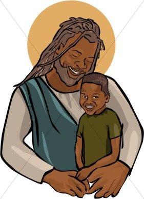 281x388 African American Palm Sunday Clipart