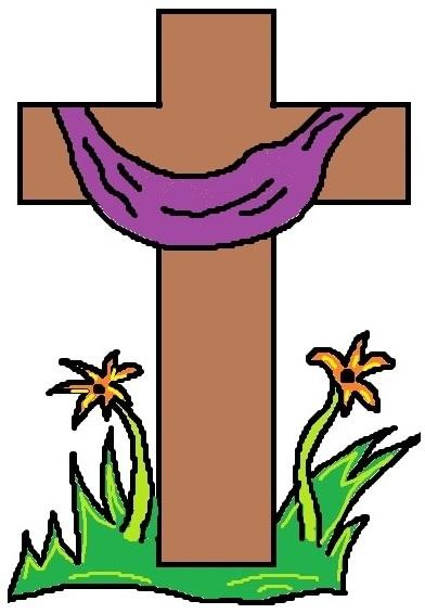 392x566 Easter Cross Clipart