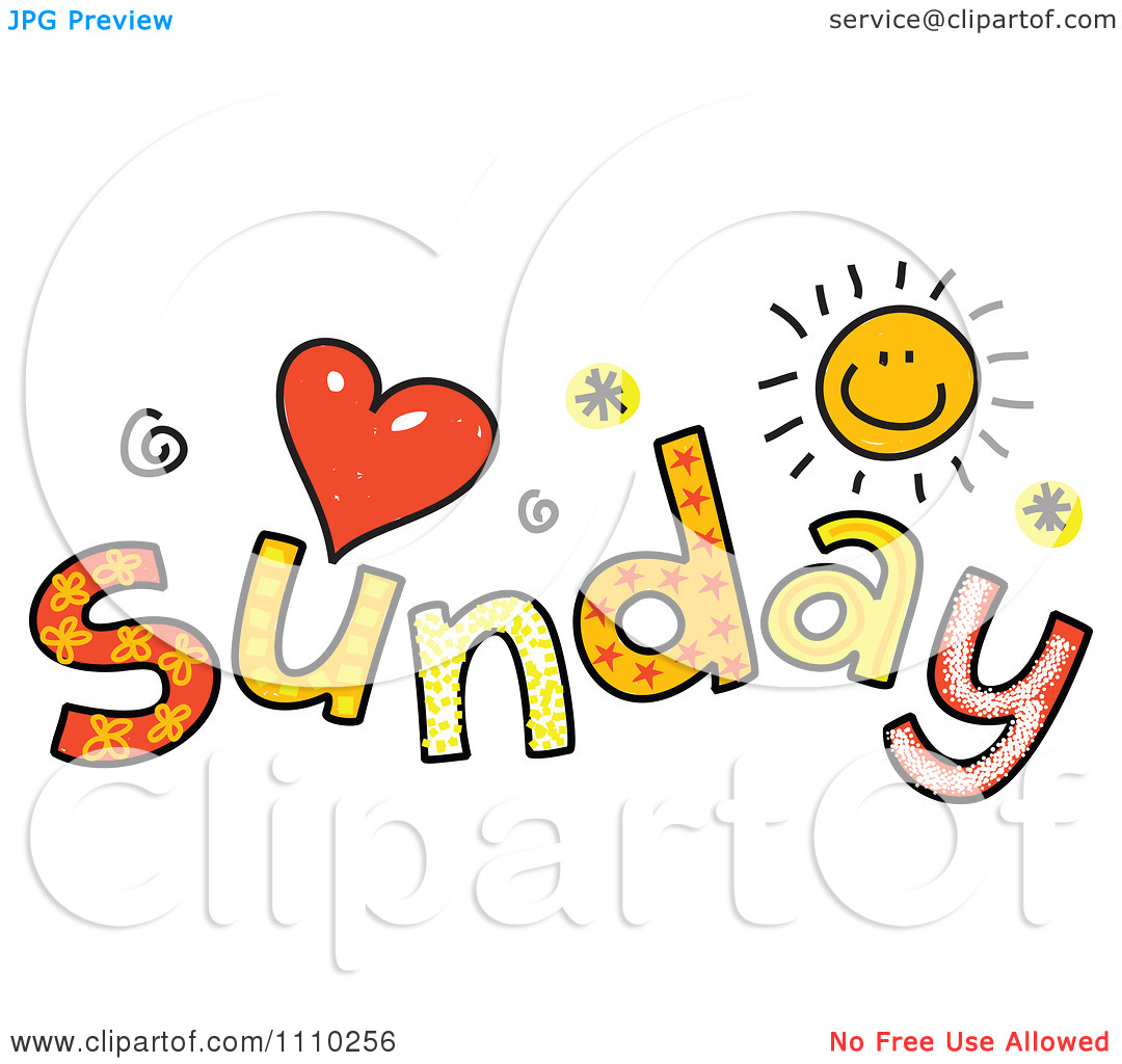 1080x1024 Happy Sunday Clipart