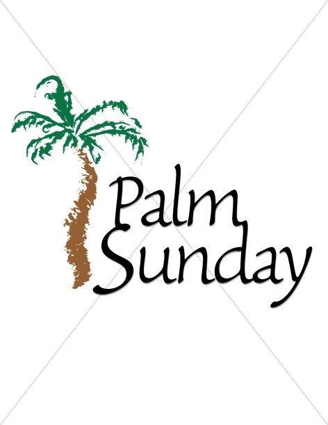 472x612 Palm Sunday With Tree Lent Word Art