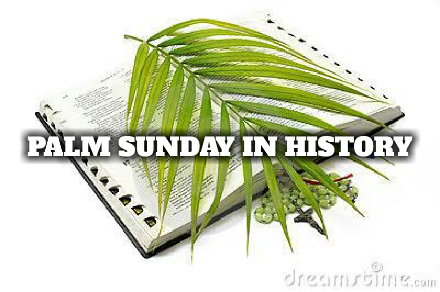 876x582 PALM SUNDAY IN HISTORY – SVMMA APOLOGIA
