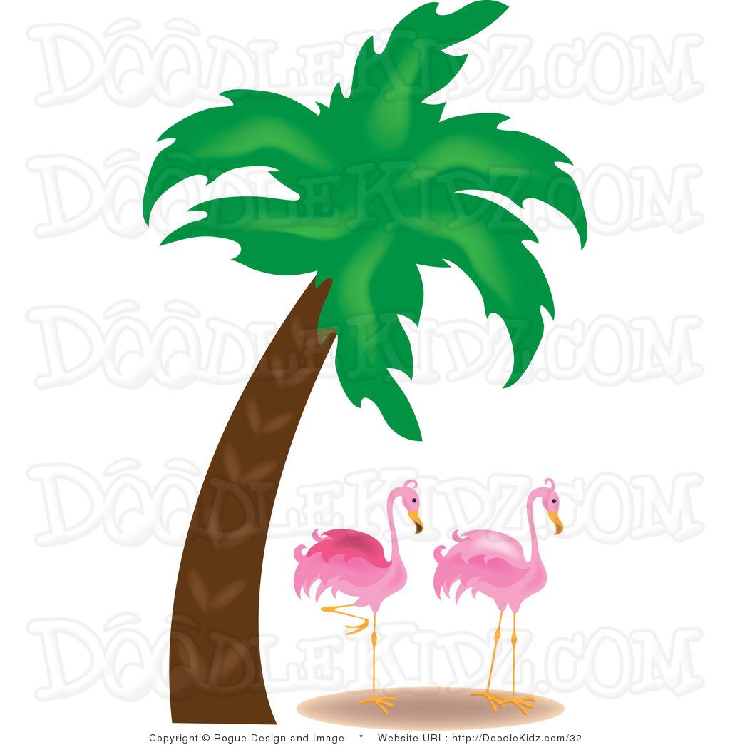 1024x1044 Flamingo Clipart Palm Tree