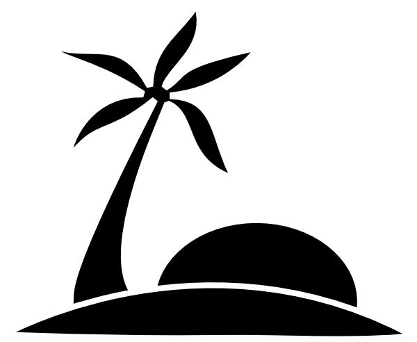600x492 Palm Tree Beach Wsun Clip Art