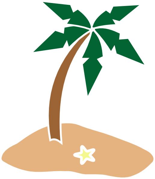 516x596 Palm Tree On Island Clip Art