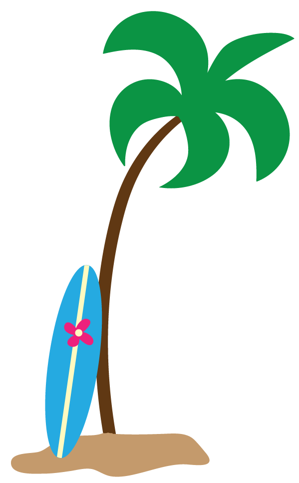 599x966 Palm Tree Beach Clipart Free Images 3