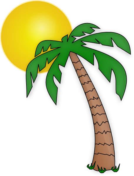 456x595 Palm Tree Leaves Free Clip Art
