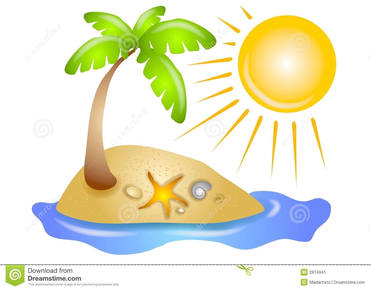 1300x1019 Vacation Clipart Palm Tree Beach
