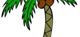 272x125 Palm Tree Clip Art Free Black White Clipart Panda