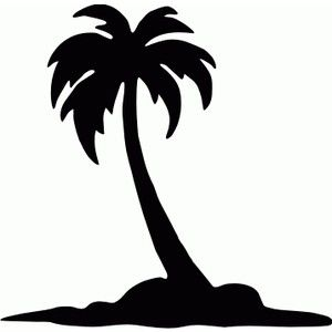 Palm Tree Black And White Clipart