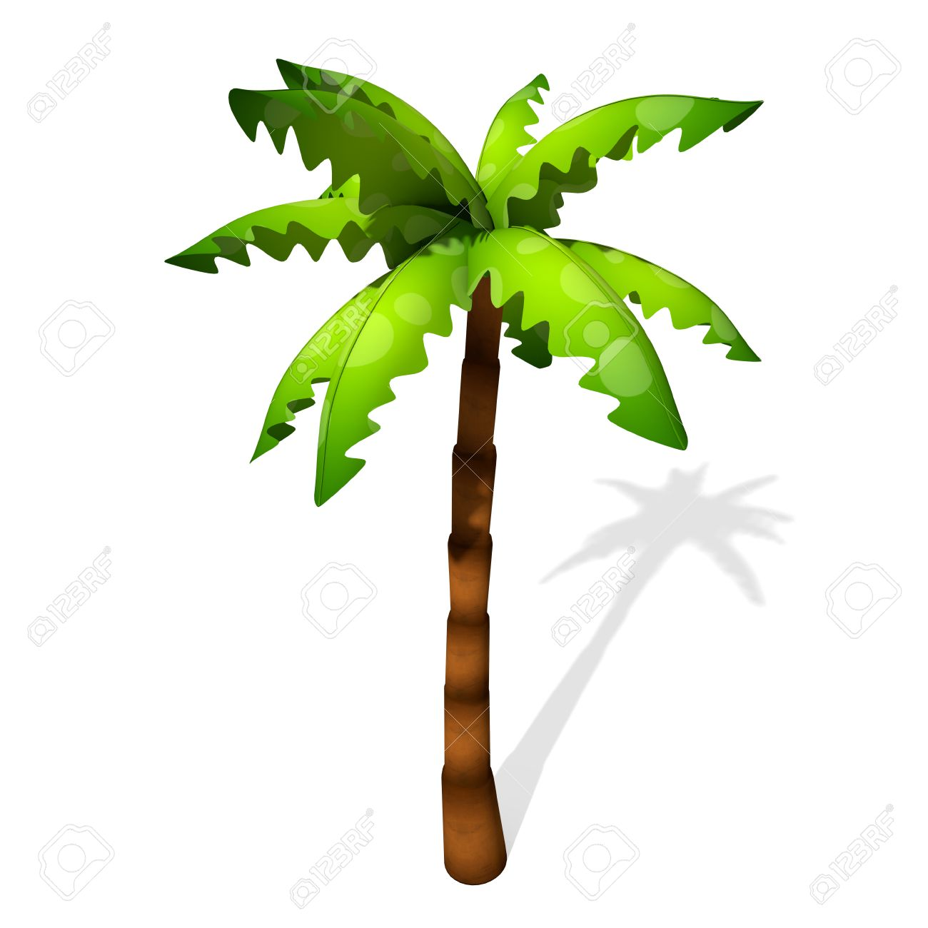 Palm Tree Cartoon Image