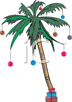 247x350 Palm Tree Decorated For A Tropical Christmas