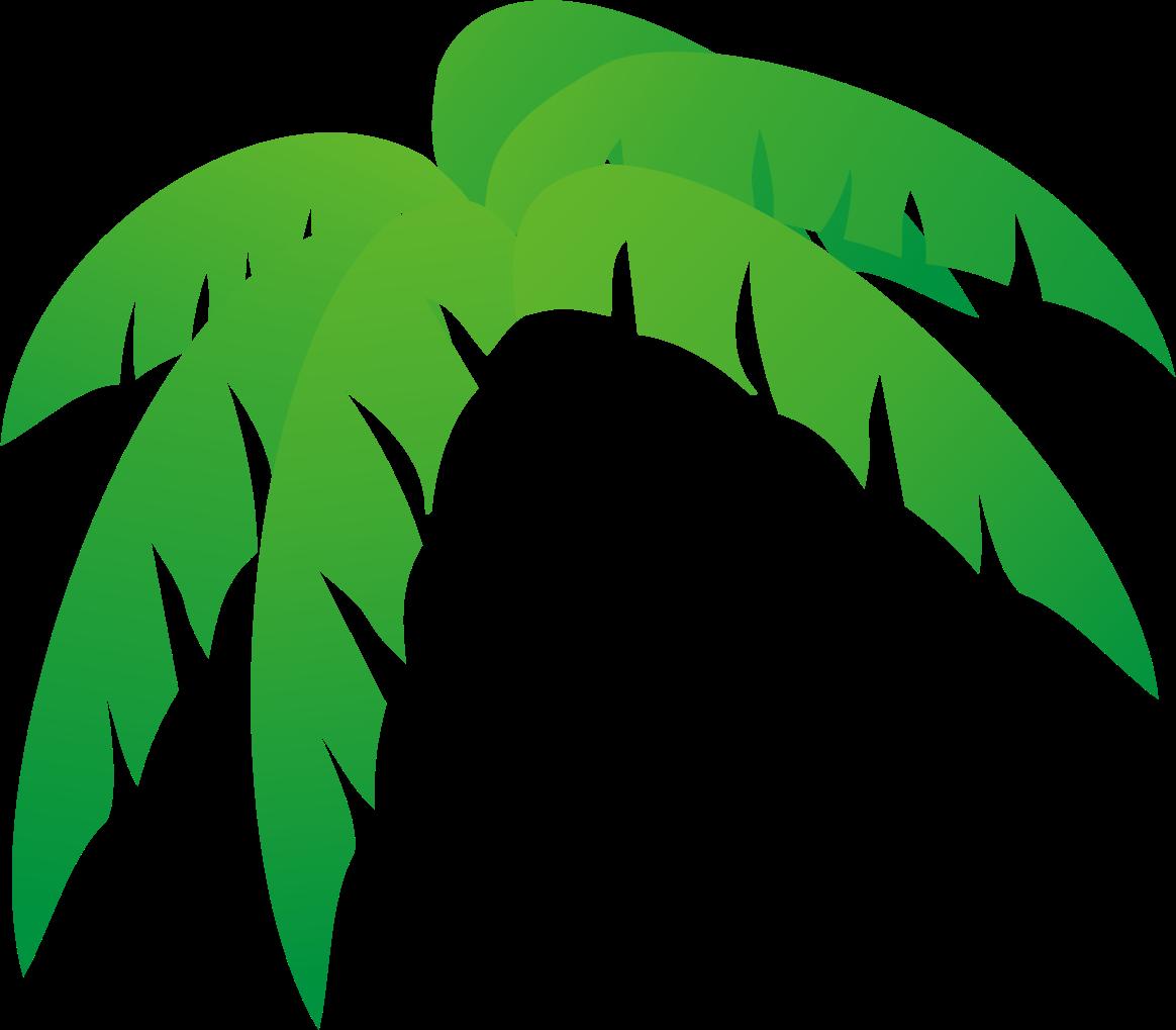1164x1019 Palm Tree Leaves Free Clip Art
