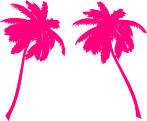 299x246 Pink Palm Trees Clip Art