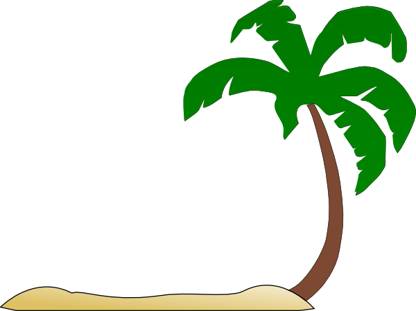 600x449 Beach Palm Tree Clip Art