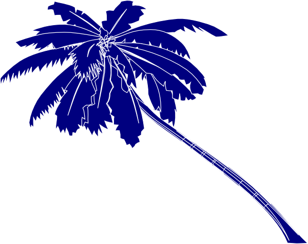600x475 Blue Palm Tree Clipart