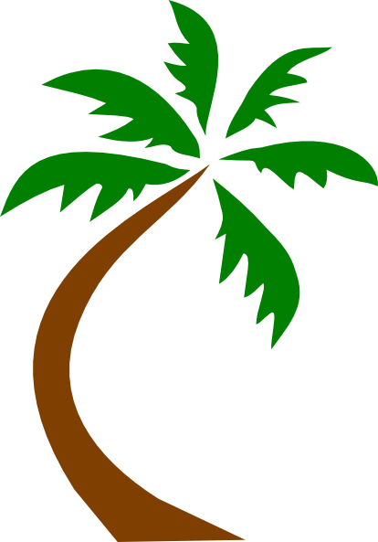 414x593 Palm Tree Curved Clip Art Download