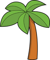 162x195 Palm Tree clipart top