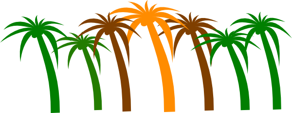 600x232 Palm tree clip art