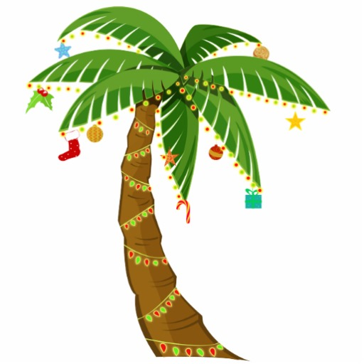 512x512 Christmas palm tree clipart