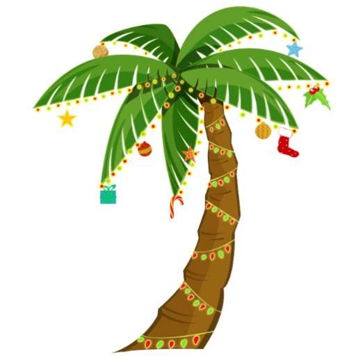 512x512 Clip art christmas palm tree clipart