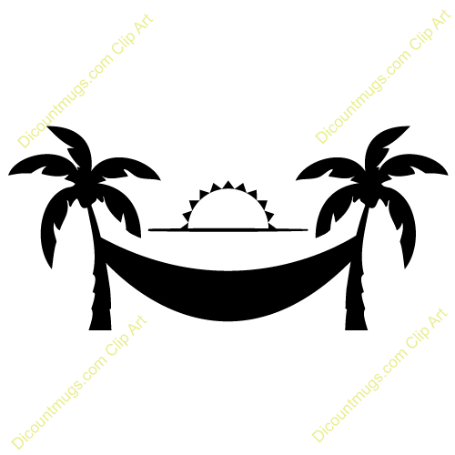 500x500 Hammock clipart sunset palm tree