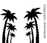 167x150 Palm Tree Art Black White Clip Clipart Panda