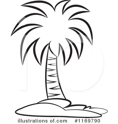 400x420 Palm Tree clipart black and white