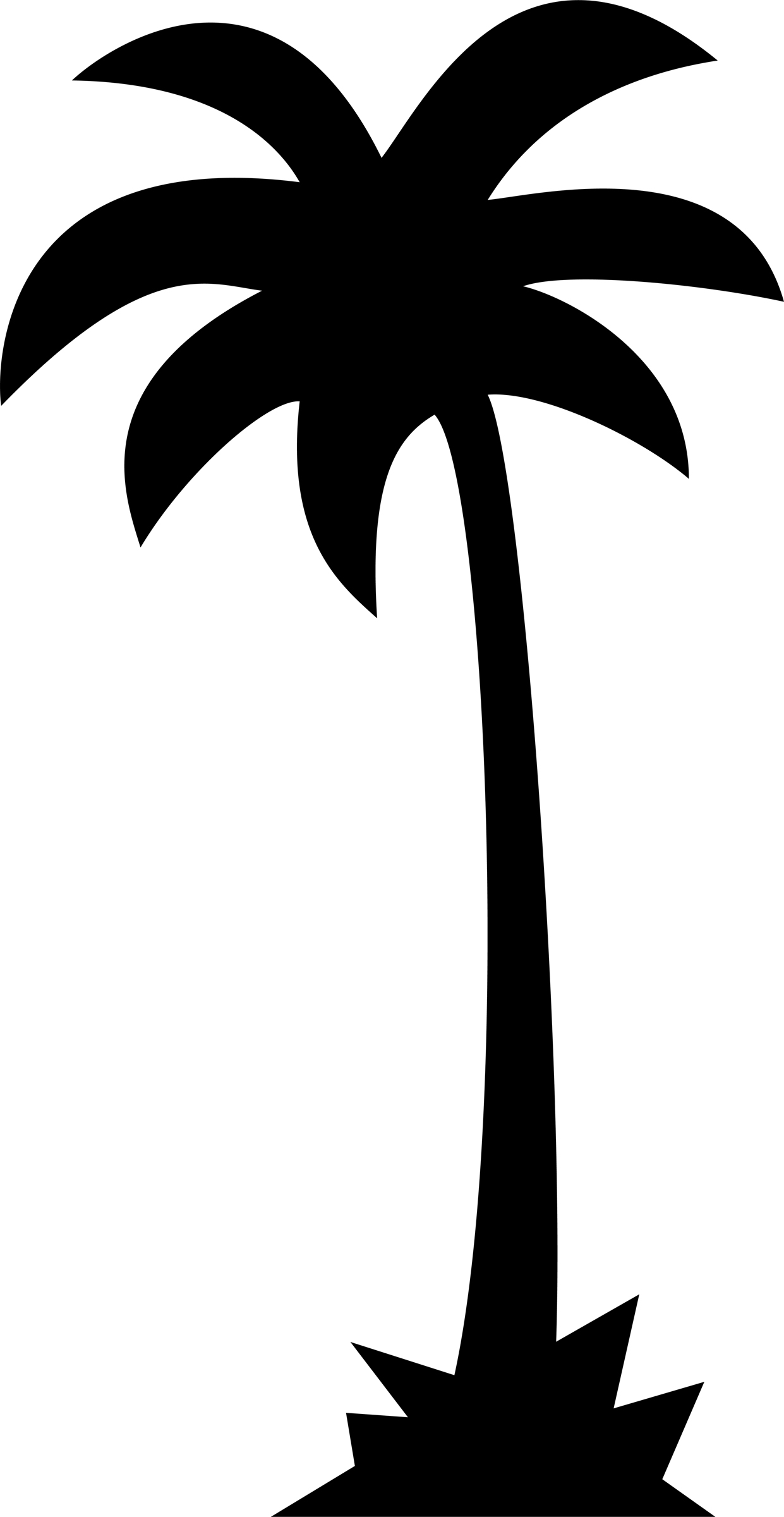 1241x2400 Palm Tree clipart single