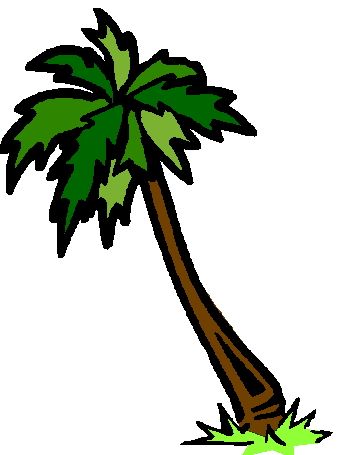 337x455 Palm tree clipart tropical black white