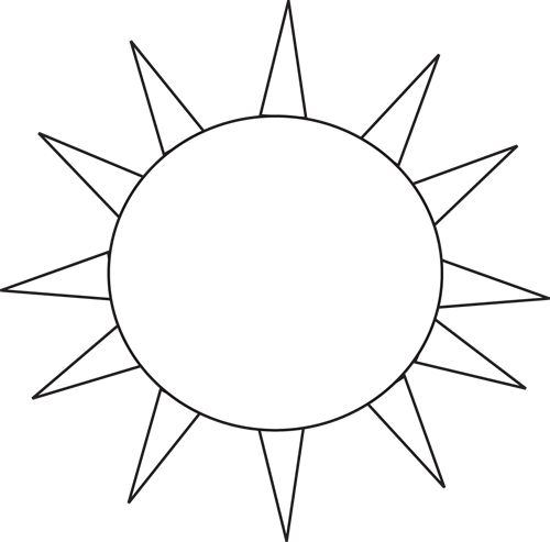 500x493 Sun black and white palm tree with sun clipart black and white