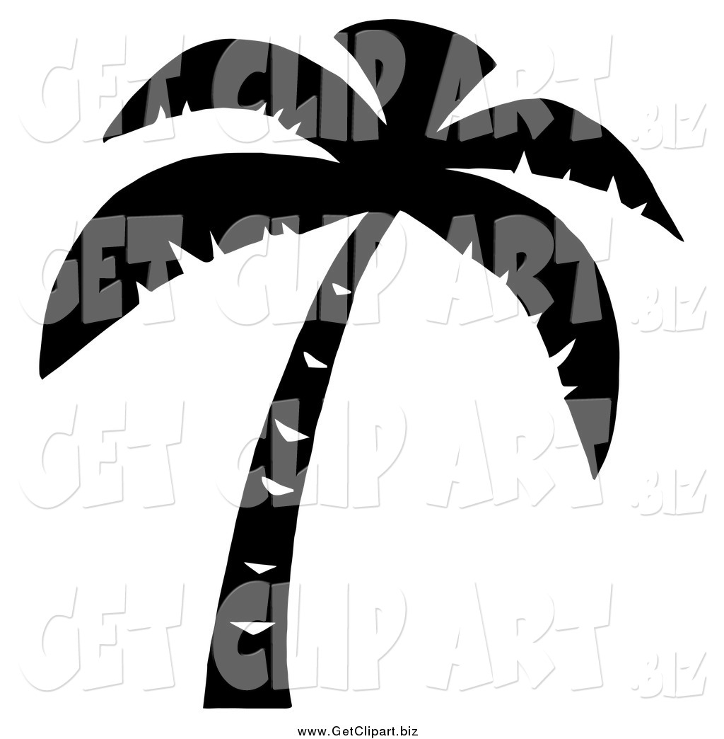 1024x1044 Clip Art of a Palm Tree Silhouette by Hit Toon