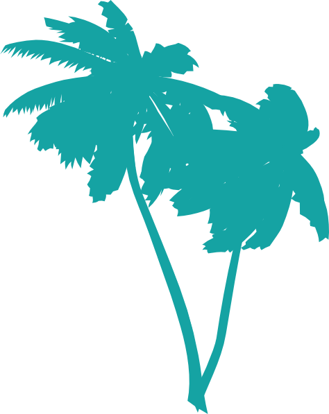 474x597 Blue Palm Tree Clipart