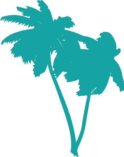 474x597 Blue Palm Tree Clipart