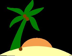 300x234 Palm Tree On Island Clip Art