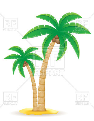 311x400 Palm Tree On The Sand Royalty Free Vector Clip Art Image